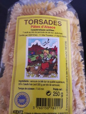 Torsades pates d'Alsace - Produit