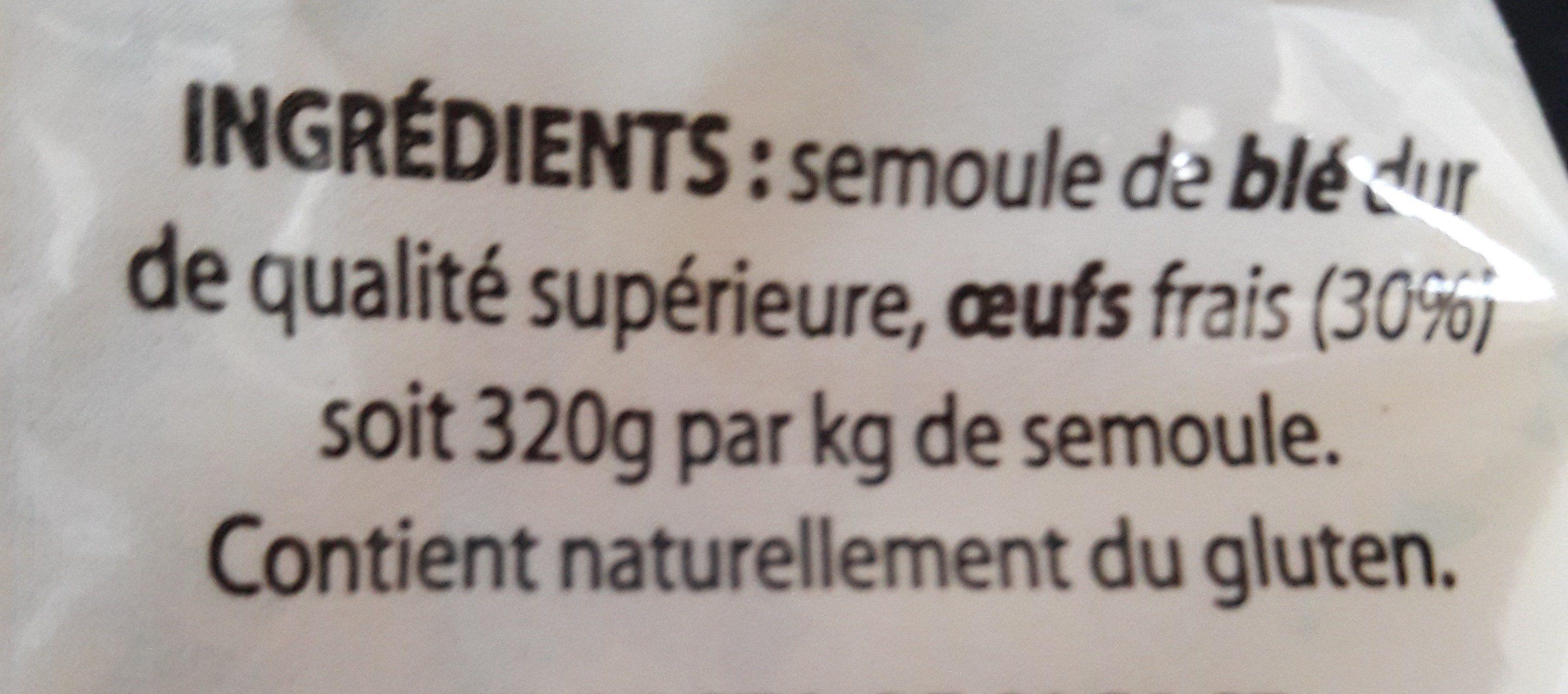 Torsades pates d'Alsace - Ingrédients