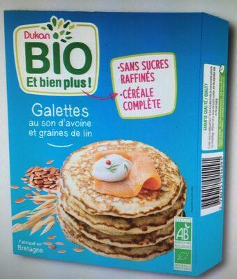 Galettes au son d'avoine et graines de lin DUKAN Bio - Product
