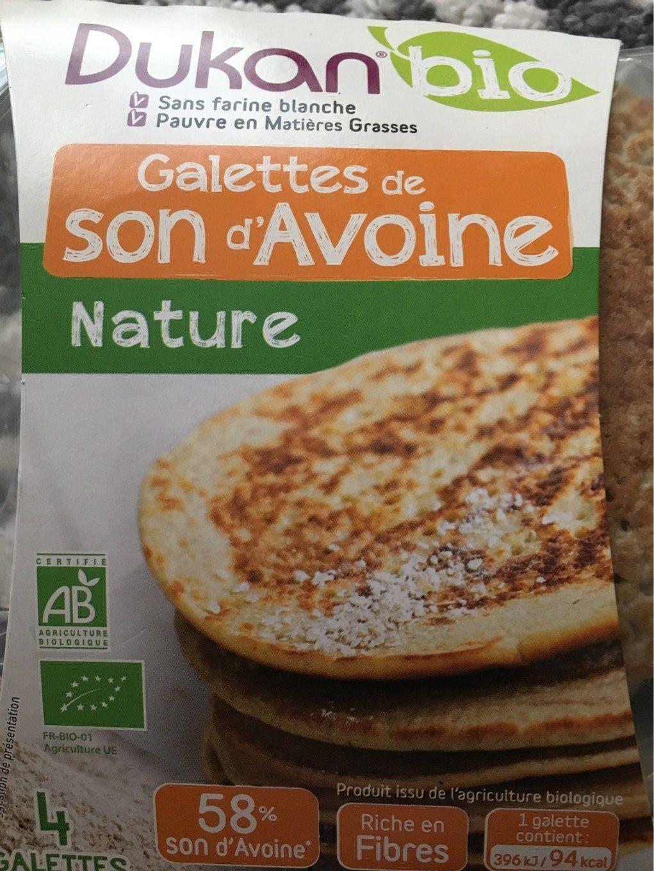 Galettes au son d'avoine et graines de lin DUKAN Bio - Nutrition facts