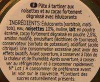 Pâte à tartiner dukanella - Ingrediënten - fr