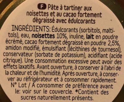 Pâte à tartiner dukanella - Ingrediënten