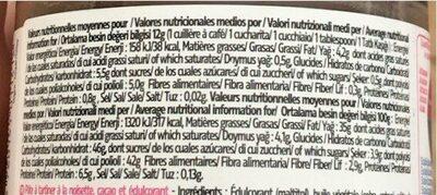 Pâte à tartiner dukanella - Voedingswaarden