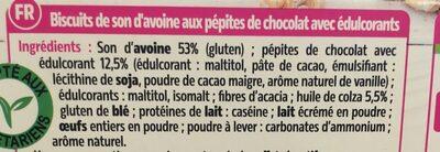 Biscuits aux pépites de chocolat - Ingrediënten