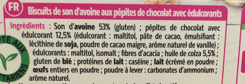 Biscuits aux pépites de chocolat - Ingredientes