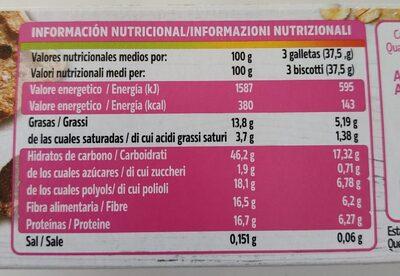 Dukan Expert Biscotti Crusca D'avena - Informations nutritionnelles - it