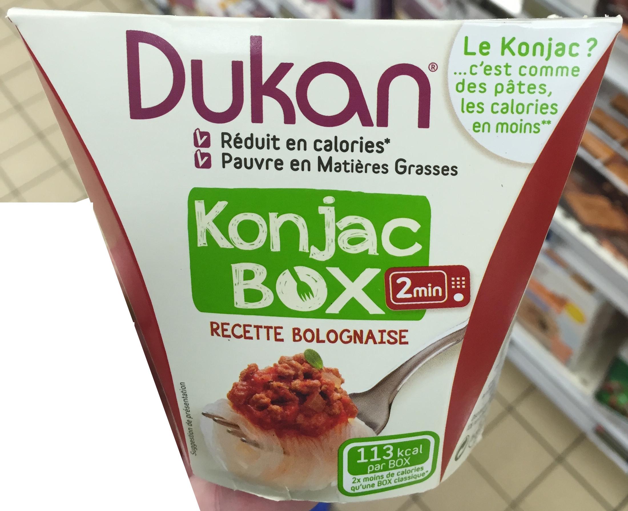 Konjac Box recette Bolognaise - Prodotto - fr