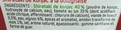 Konjac Box recette Bolognaise - Ingredienti - fr
