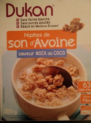 Pépites de son d'avoine saveur Noix de Coco Dukan - Product
