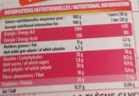 Barres extra-gourmandes - Nutrition facts - fr