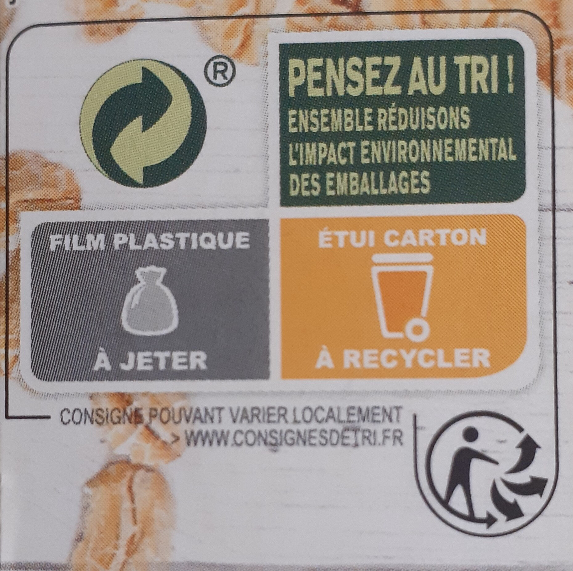 Barres extra-gourmandes - Recycling instructions and/or packaging information - fr
