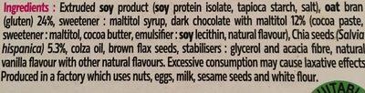 Barres au chocolat et graines de chia - Ingredients