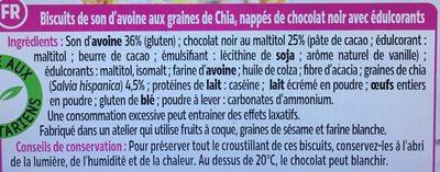 Biscuits chocolat et graines de Chia - Ingredients