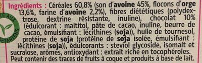 Pépites aux éclats de chocolat - Ingrediënten - fr