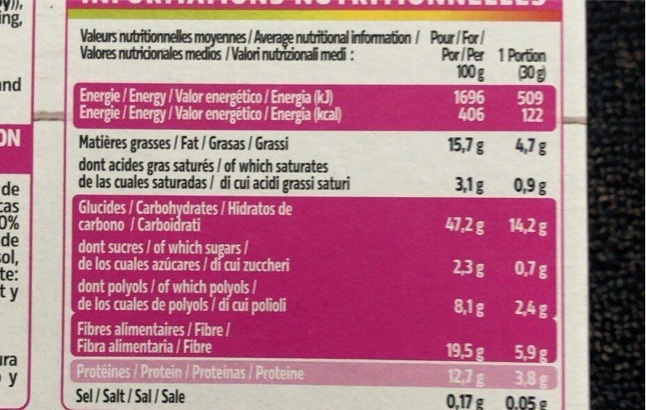 Pépites aux éclats de chocolat - Voedingswaarden - fr
