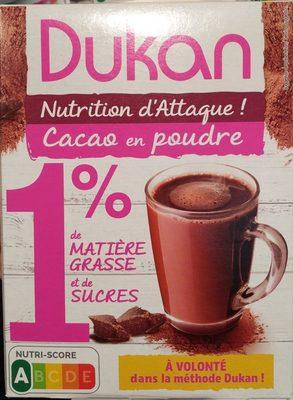 Cacao en poudre 1% M.G et 1% sucres - Product