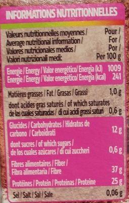Cacao en poudre 1% M.G et 1% sucres - Nutrition facts