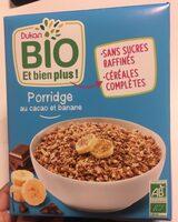 Porridge cacao banane bio - Produit - fr