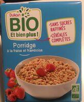 Porridge fraise framboise bio - Produit - fr