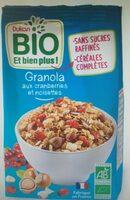 Granola cranberries noisettes bio - Produit - fr