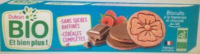 Biscuits framboise chocolat au lait bio - Produit - fr