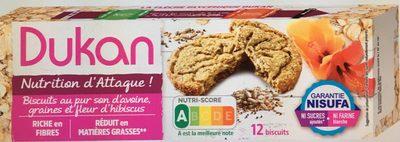 Biscuits au pur son d'avoine graines et fleur d'hibiscus - Product - fr