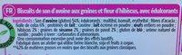 Biscuits au pur son d'avoine graines et fleur d'hibiscus - Ingrédients - fr