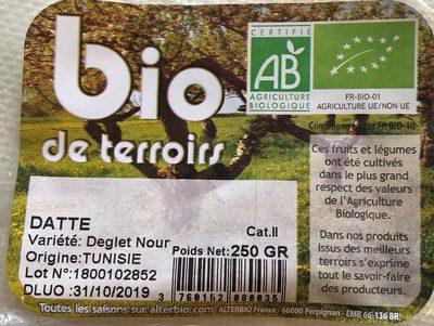 Datte Deglet Nour Tunisie - Ingredients - fr