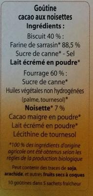 Gourmandise au sarrasin - Ingredients