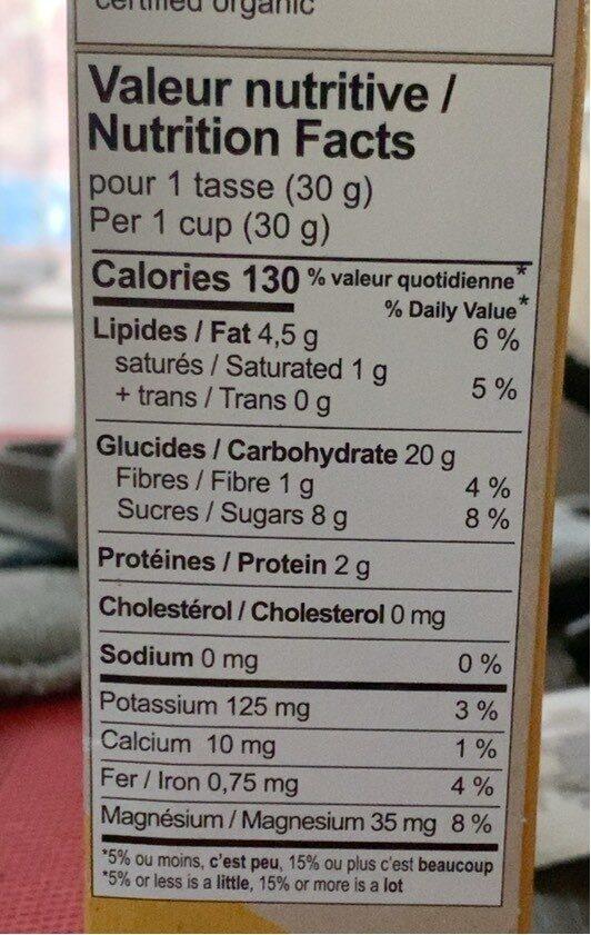 Petite Bouchée Cacao Noisettes - Nutrition facts - en