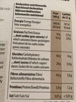 Goûtine sarrasin fourrée chocolat noir, bio, sans gluten, Vegan, sans huile de palme - Nutrition facts - fr