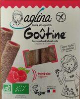 Aglina Goûtine Framboise bio, sans gluten Bio, Vegan - Product