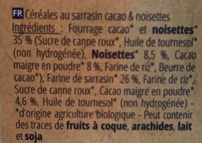 P'tit Carré - Ingrédients