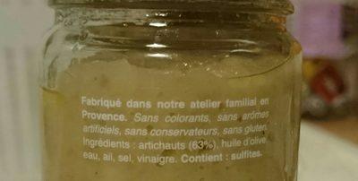 Artichauts - Ingrédients - fr