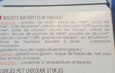 Sablés aux pépites de chocolat - Ingrediënten - fr