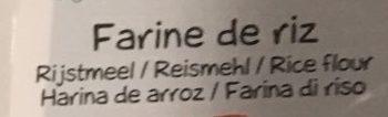 Farine de Riz bio - Ingrediënten