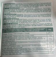 Farine De Sarrasin Bio - Nutrition facts - fr