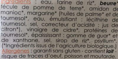 Pate feuilletee - Ingrediënten - fr