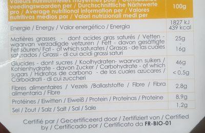 Epicerie / Apéritifs Bio / Biscuits Apéritif Bio - Ingrediënten