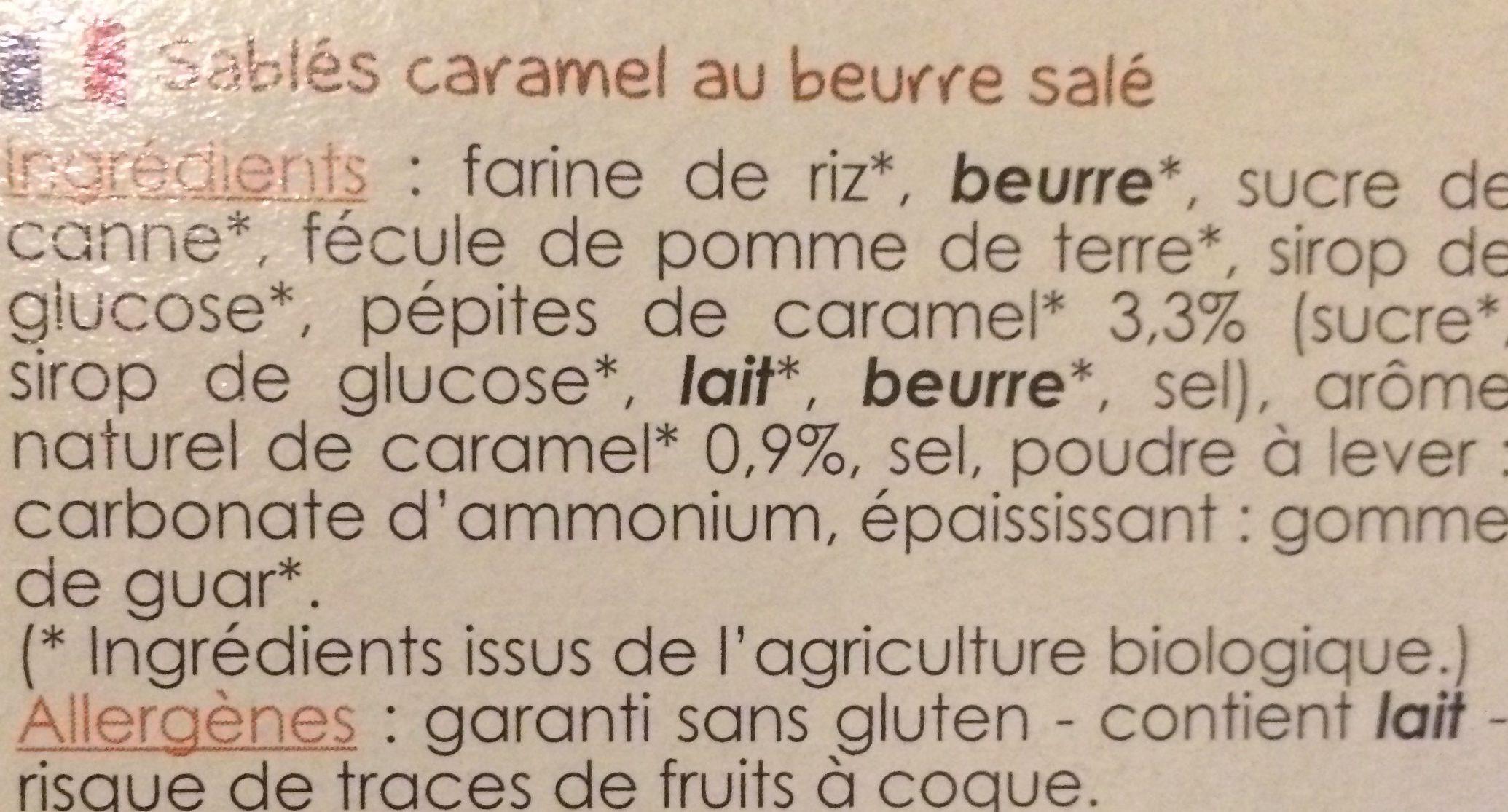 Sablés caramel au beurre salé - 成分 - fr