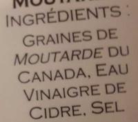 Moutarde de Normandie - Ingrediënten - fr