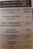 Moutarde de Normandie - Voedingswaarden - fr