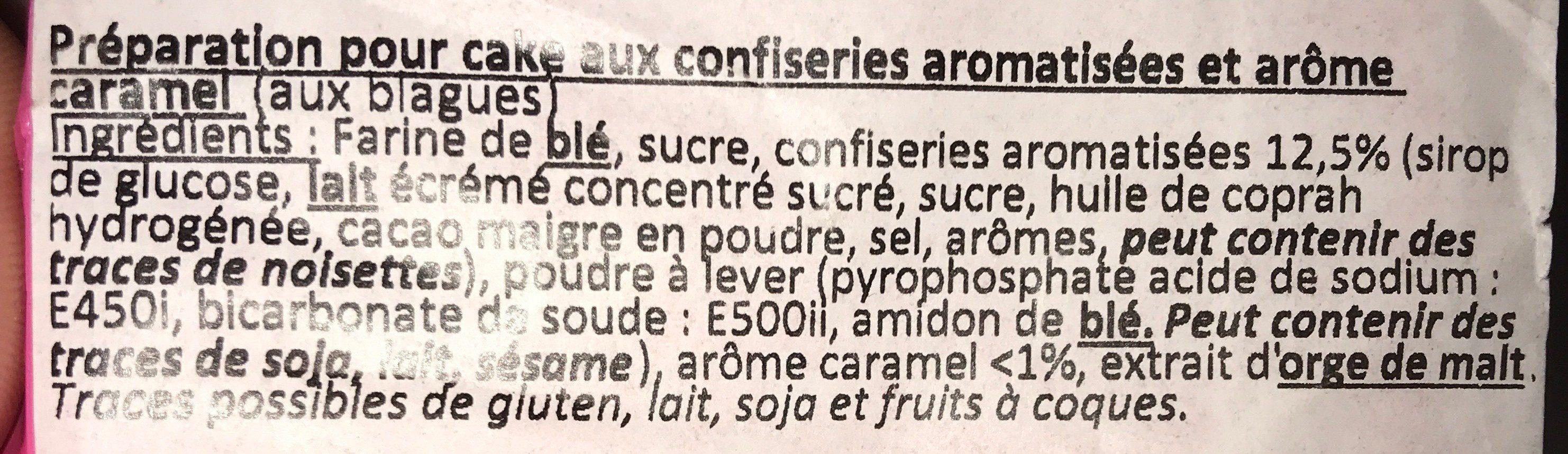 Préparation pour cake aux blagues - Ingredients - fr