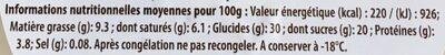 Le pot de glace artisanal - Nutrition facts - fr