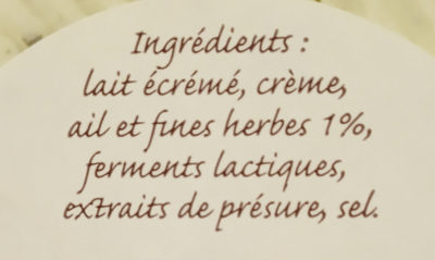 Le campagnard Lorrain - Ingrédients - fr