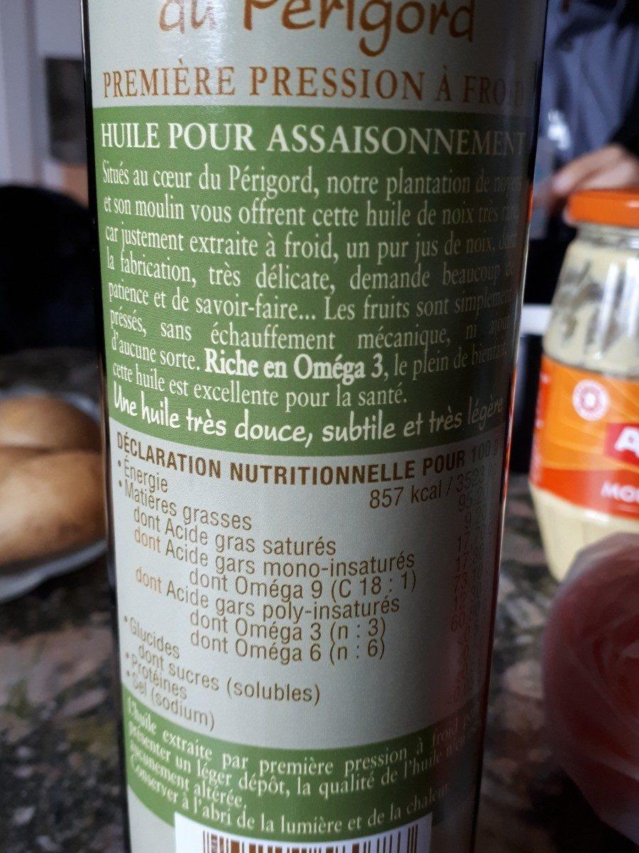 Huile de Noix perigord - Ingredienti - fr