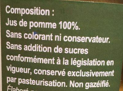 Jus de pomme de l'Avesnois - Ingrédients - fr