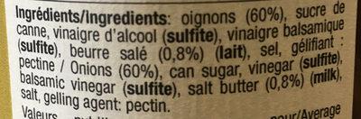 Confît d'oignons au caramel au beurre salé - Ingredients