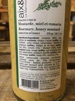 Préparation à base de moutarde, miel et romarin - Nutrition facts