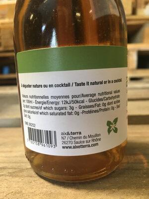 Le chant des cigales - Nutrition facts - fr